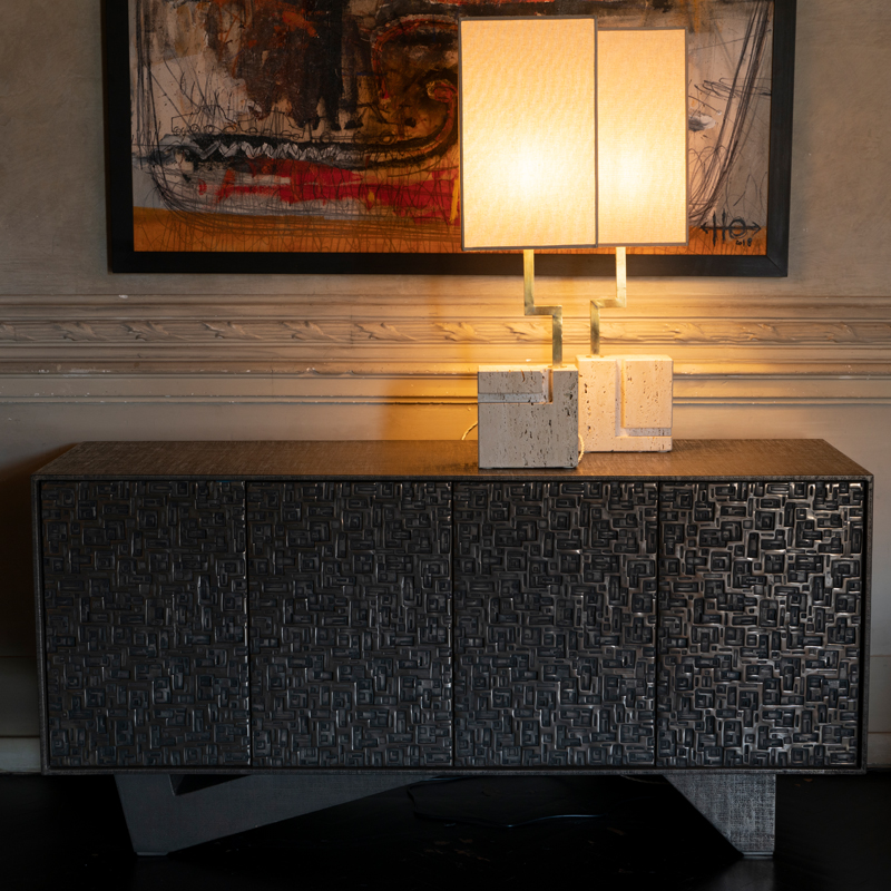 Zenoni for Flair | Bronze Resin and Jute Fusion Sideboard