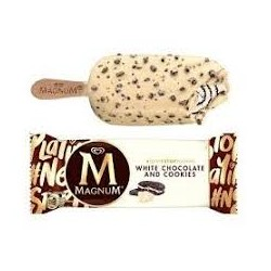 Magnum White Chocolate & Cookies 20pz x 74g. ALGIDA