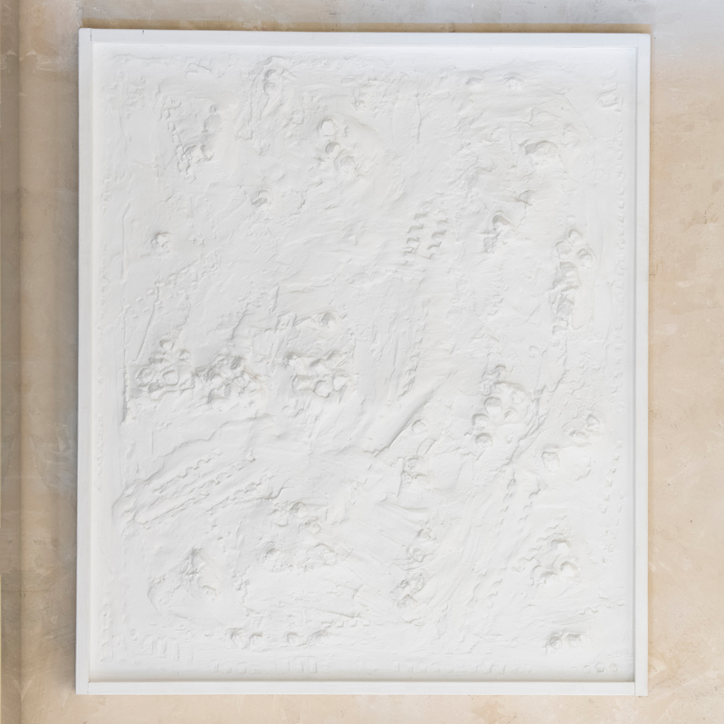 "Andrea Brandi ""Untitled"" White Abstract Painting, 2016"