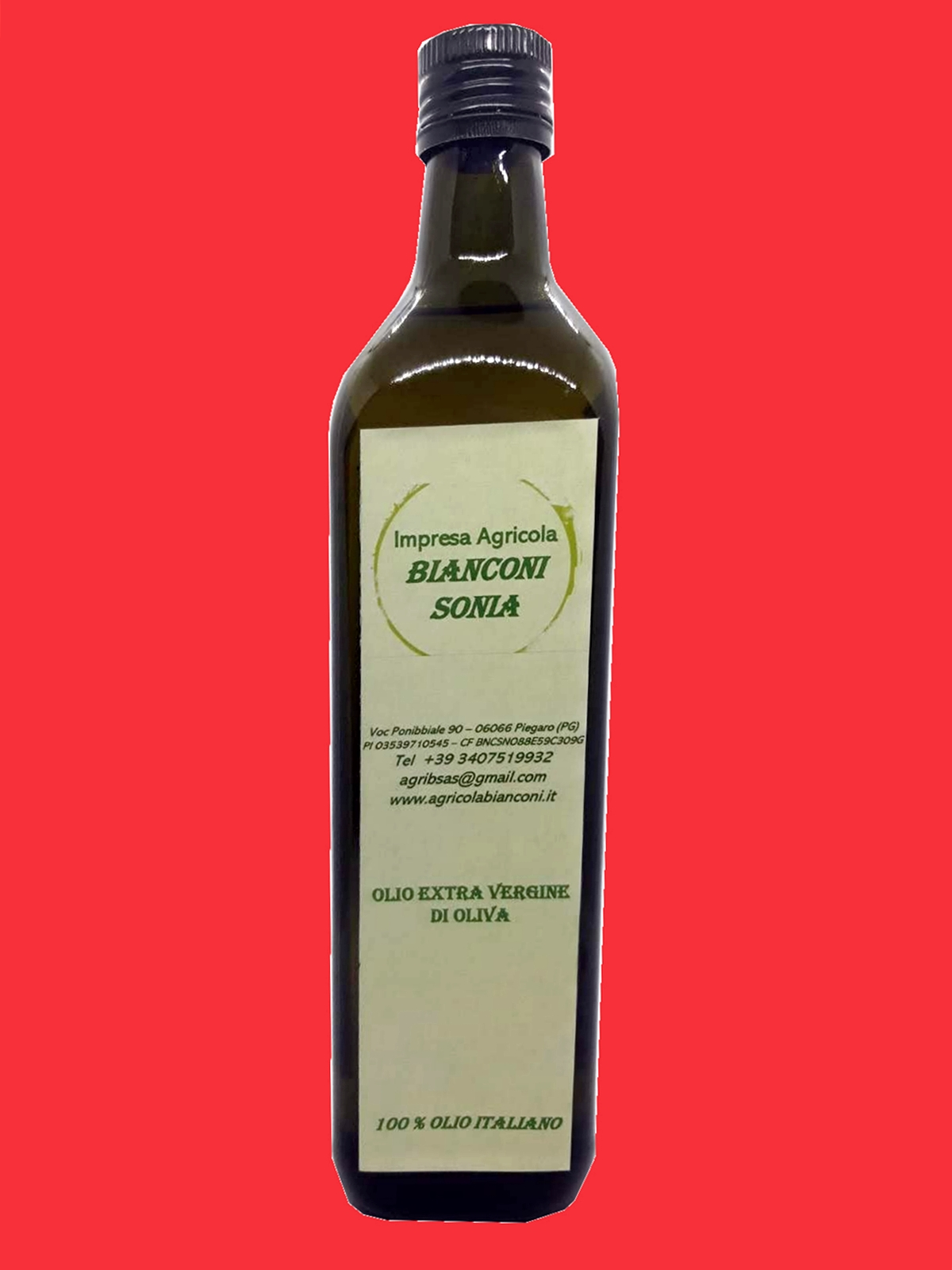 OLIO EXTRA VERGINE DI OLIVA BOTTIGLIA 750 ML – EXTRA VIRGIN OLIVE OIL BOTTLE 750 ML