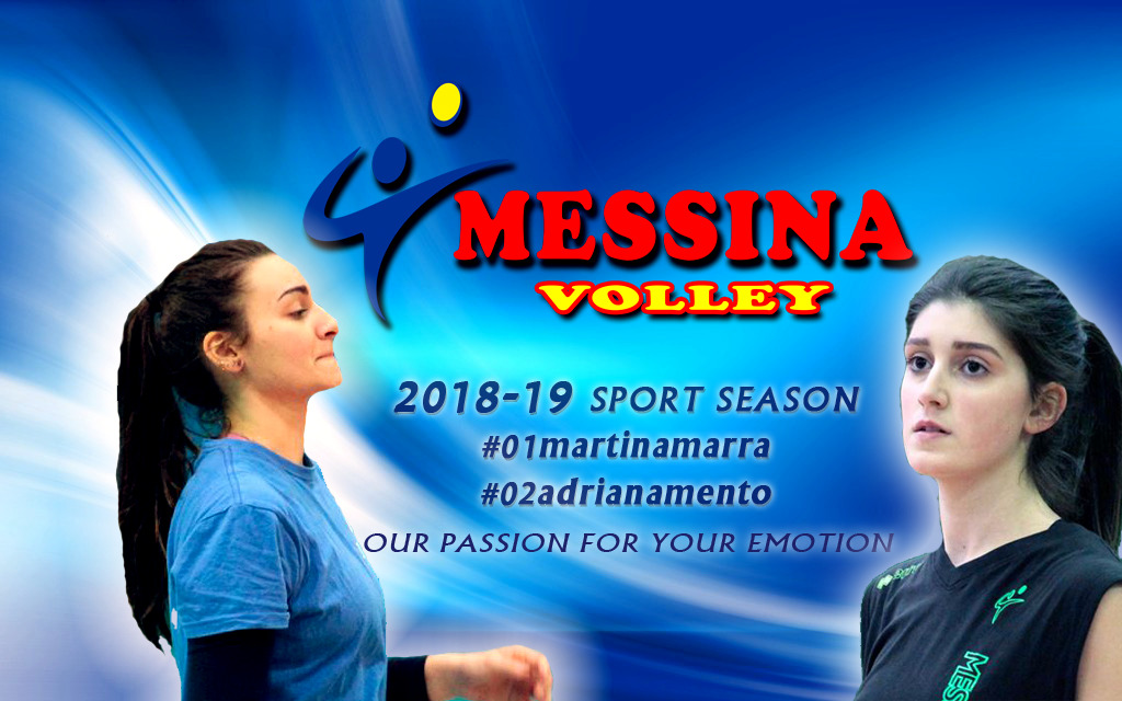 Il Messina Volley conferma le centrali Adriana Mento e Martina Marra