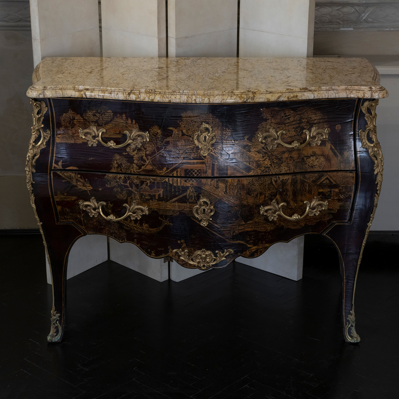 Late 19th Century French Chinoiserie Chest of Drawers