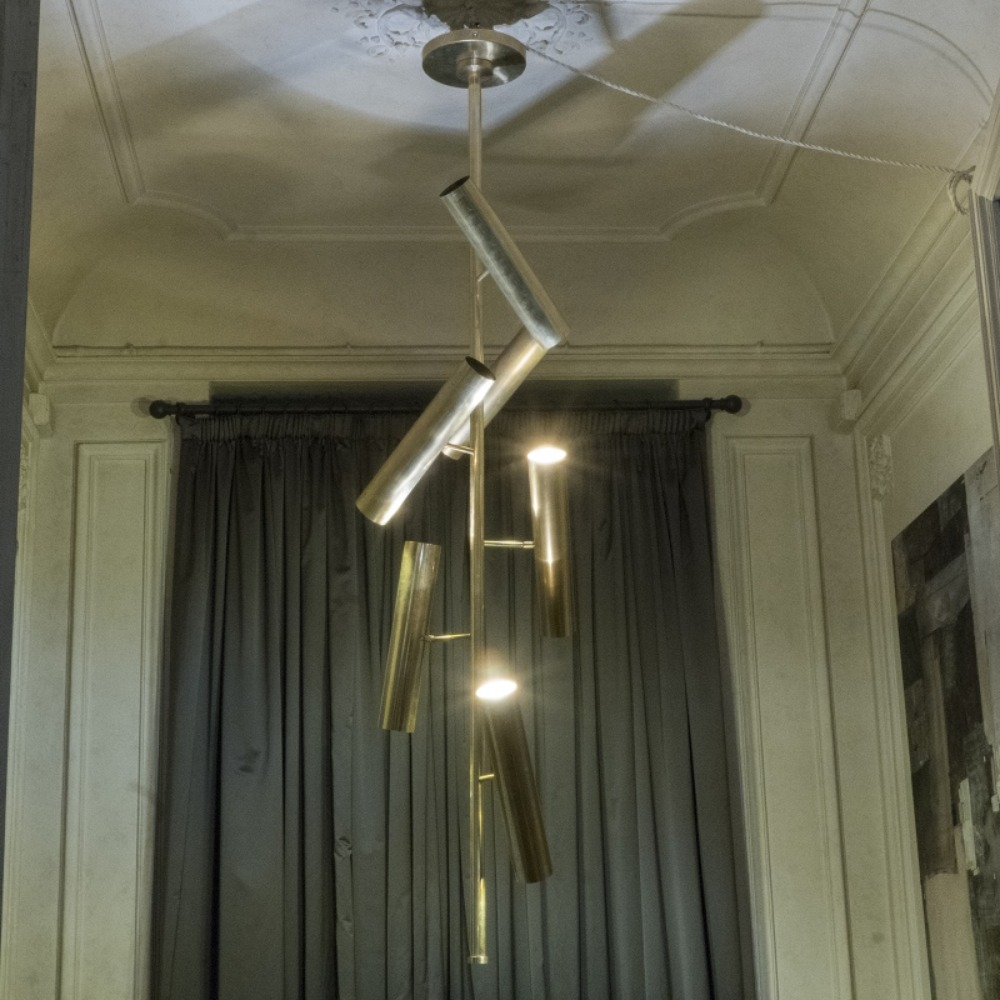 ''Tubes'' Brass Suspension