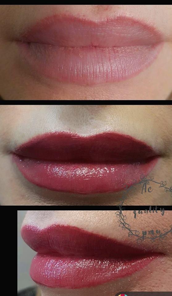 tatuaggio labbra effetto rossetto
