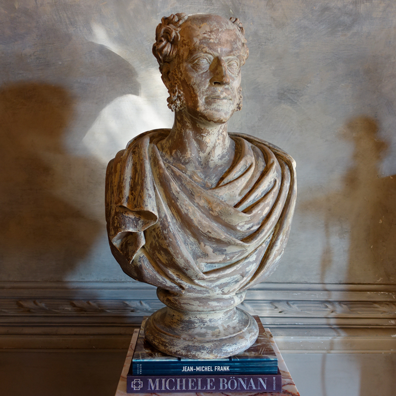 19th Century Plaster Bust of John Michael Shum