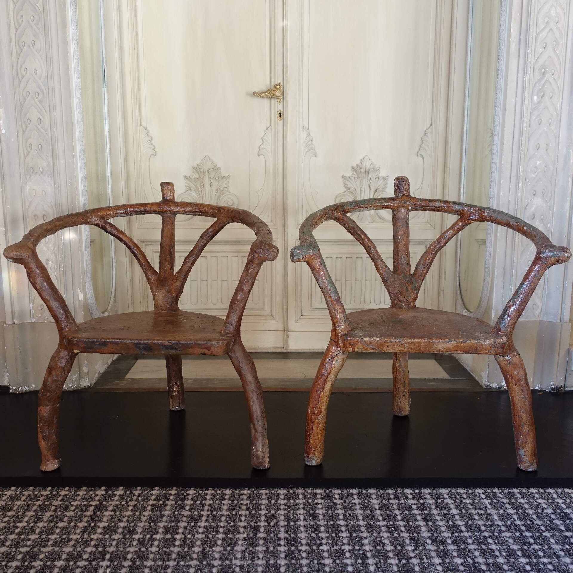 Early 19th Century Italian Concrete Armchairs