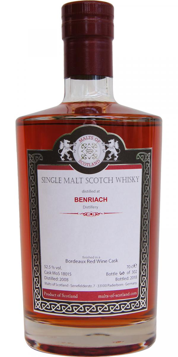 Malts of Scotland Benriach over 18 anni