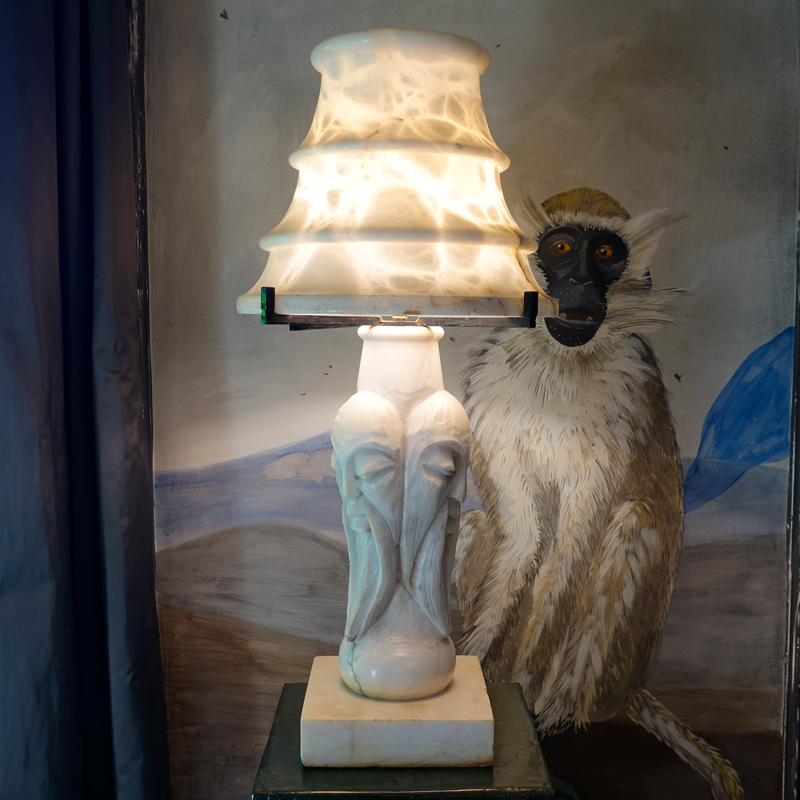 1970s Sculptural Alabaster Lamp, Spain