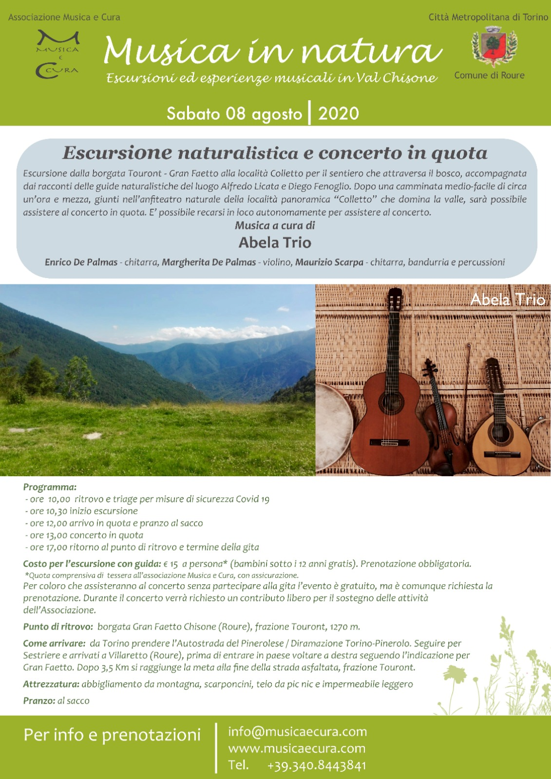 escursione naturalistica concerto in quota