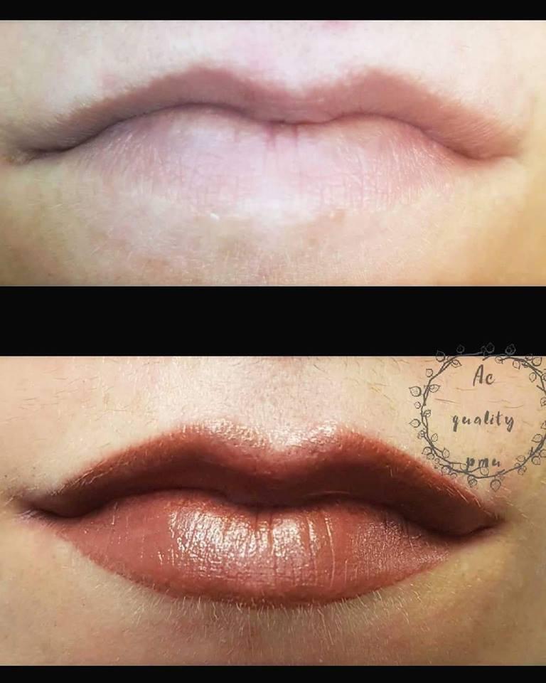 correzione asimmetrie trucco permanente labbra