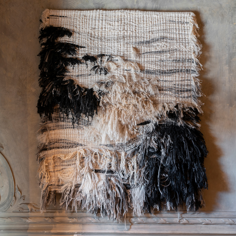 """ASTER"" Wool/Linen Textile Wall Artwork by Perrine Rousseau"