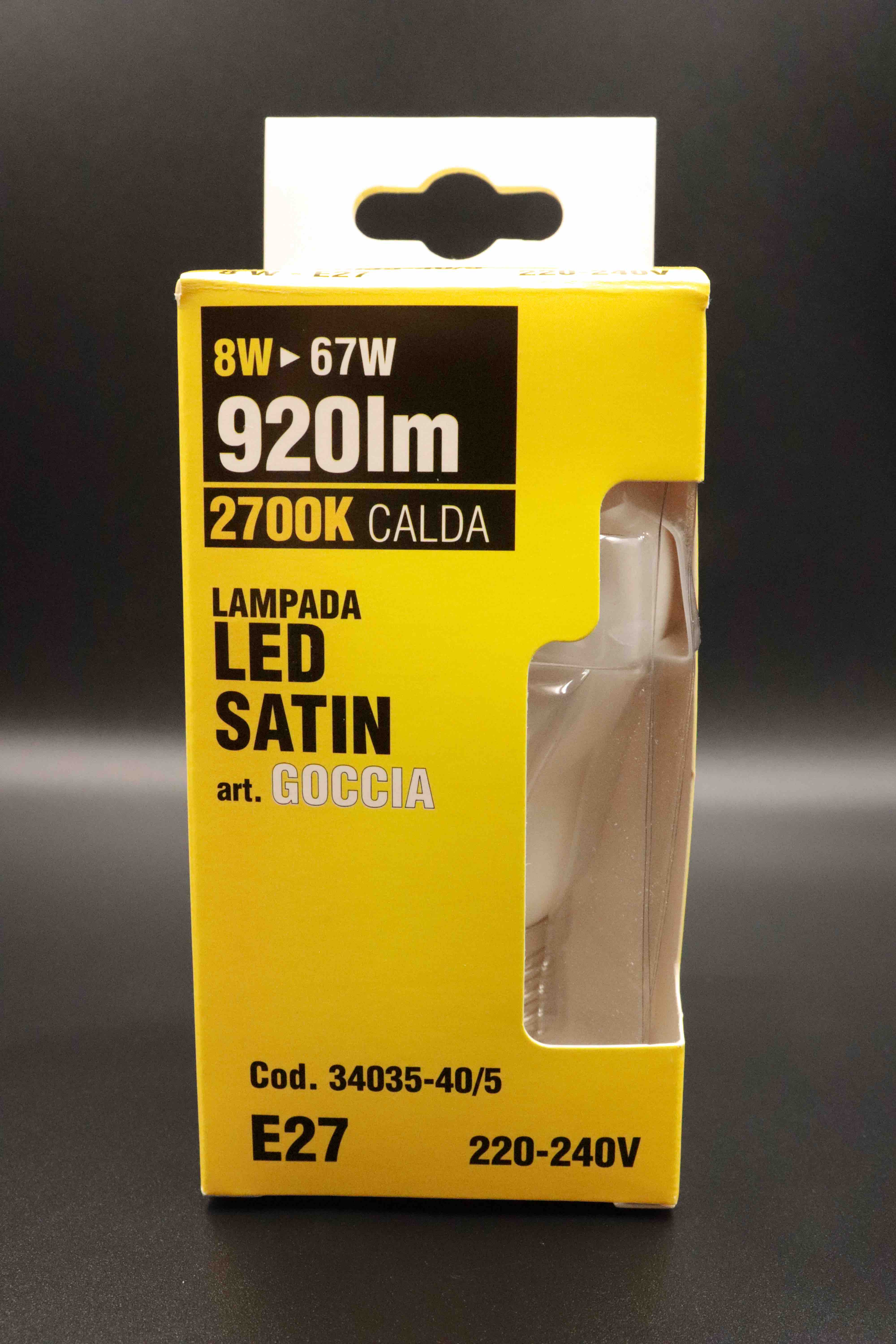 Lampadina led Vigor satin