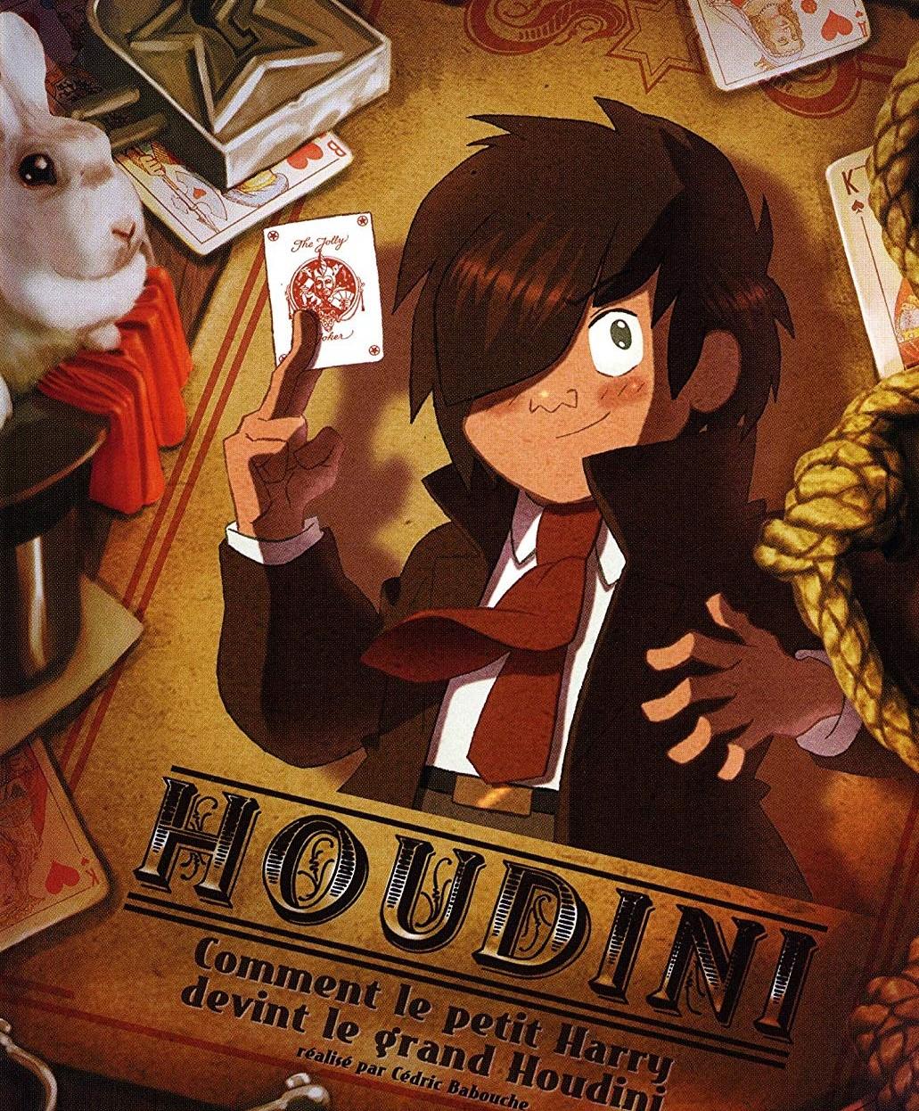Houdini bambino in un cartone animato del francese cédric babouche