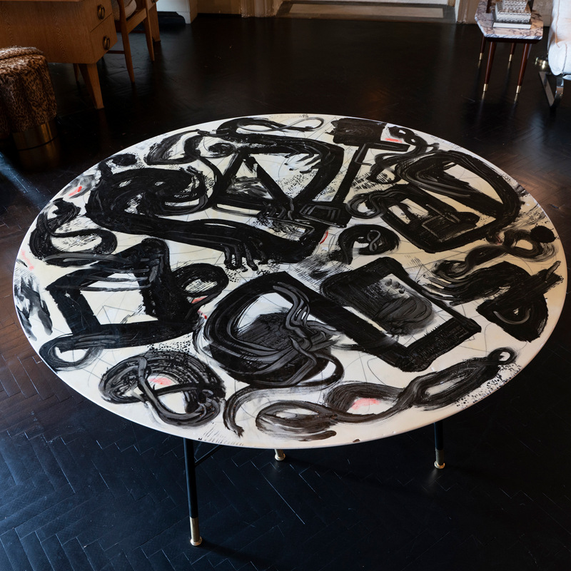 1970s Italian Center Table in Style Emilio Vedova