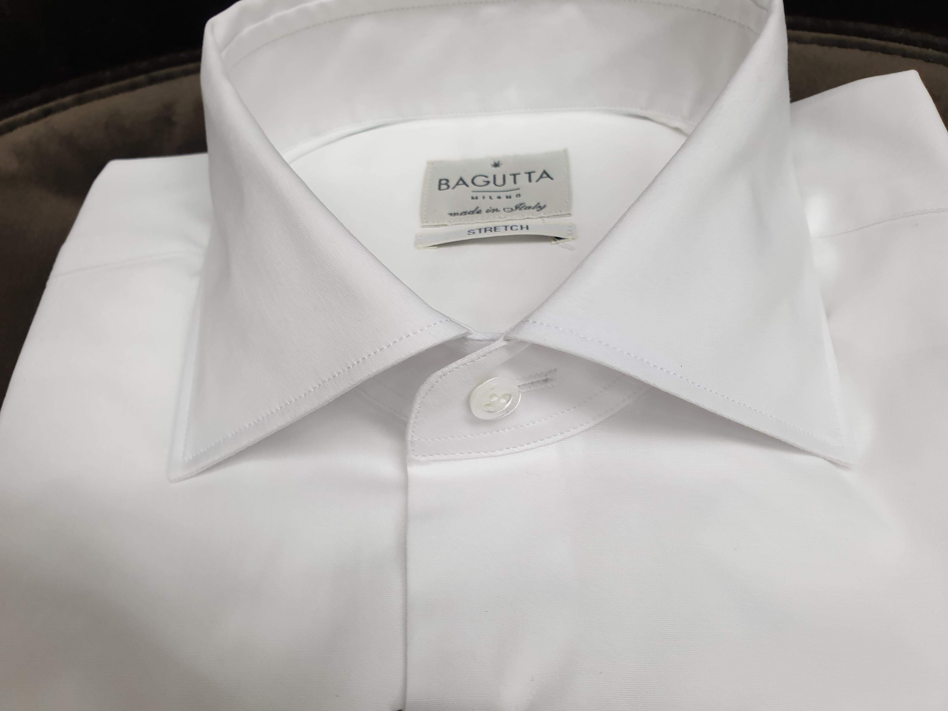 Camicia Bagutta Bianca Shaped