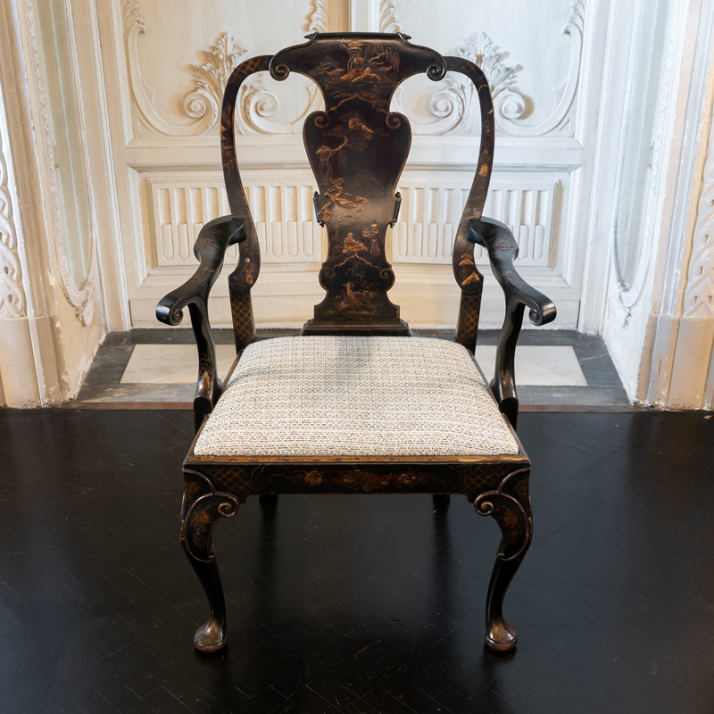 Late 19th Century Chinoiserie Armchair