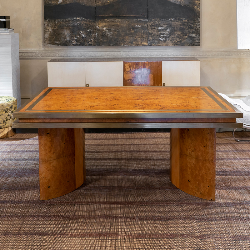 1950s Italian Burl Wood Dining Table