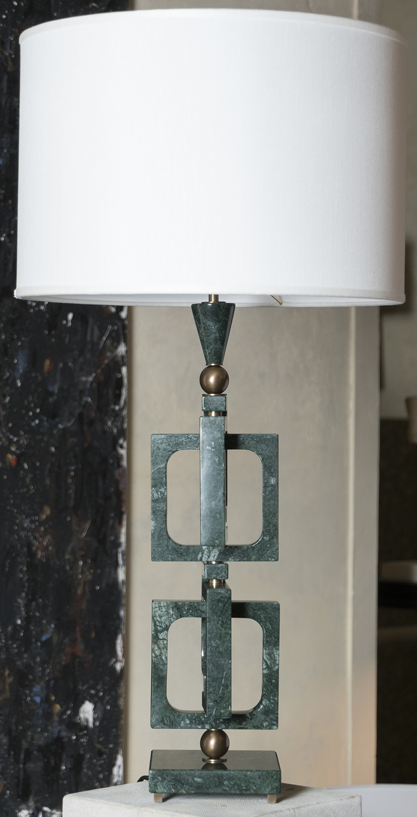 AdHoc Verde Guatemala Marble Table Lamp