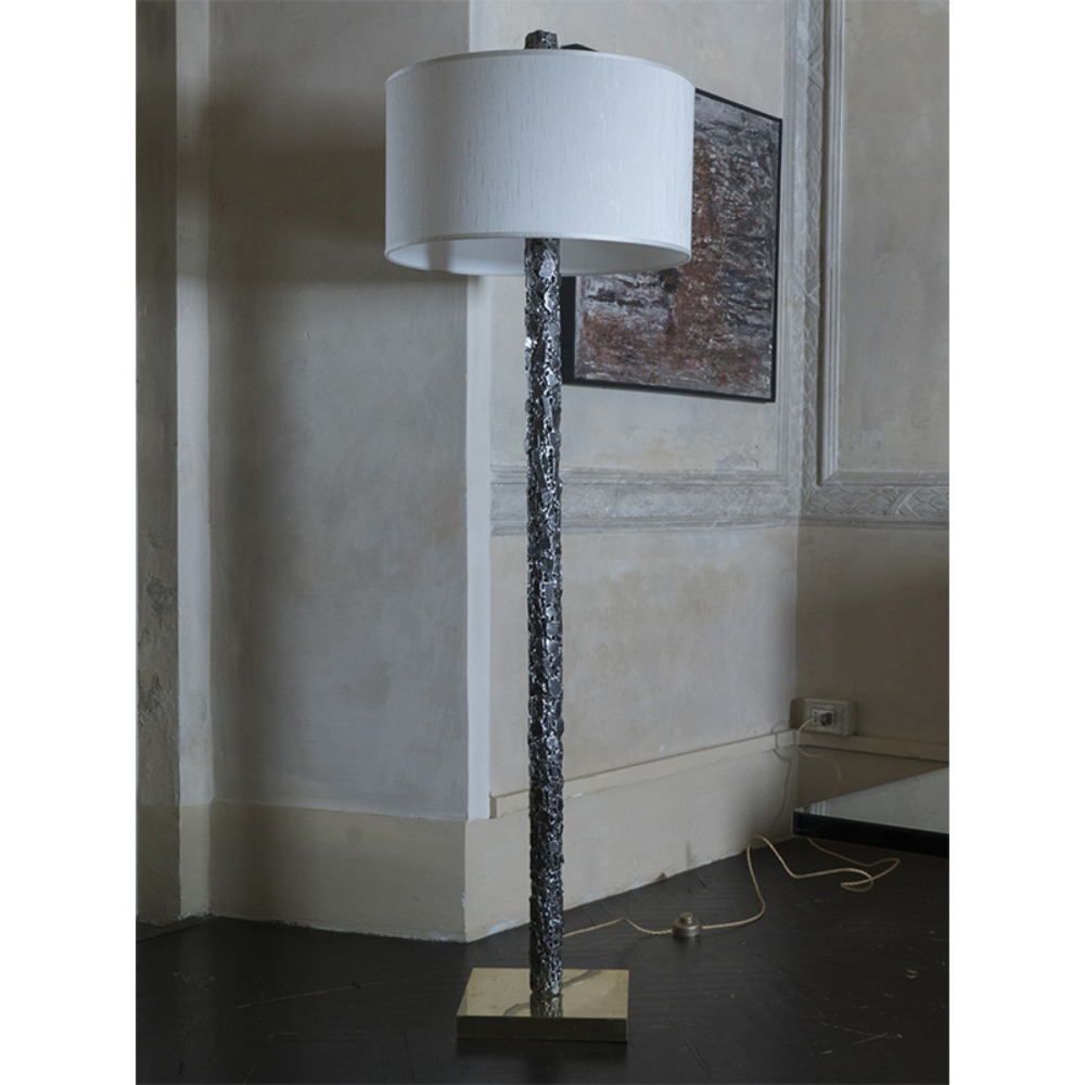 Brutalist Steel Floor Lamp