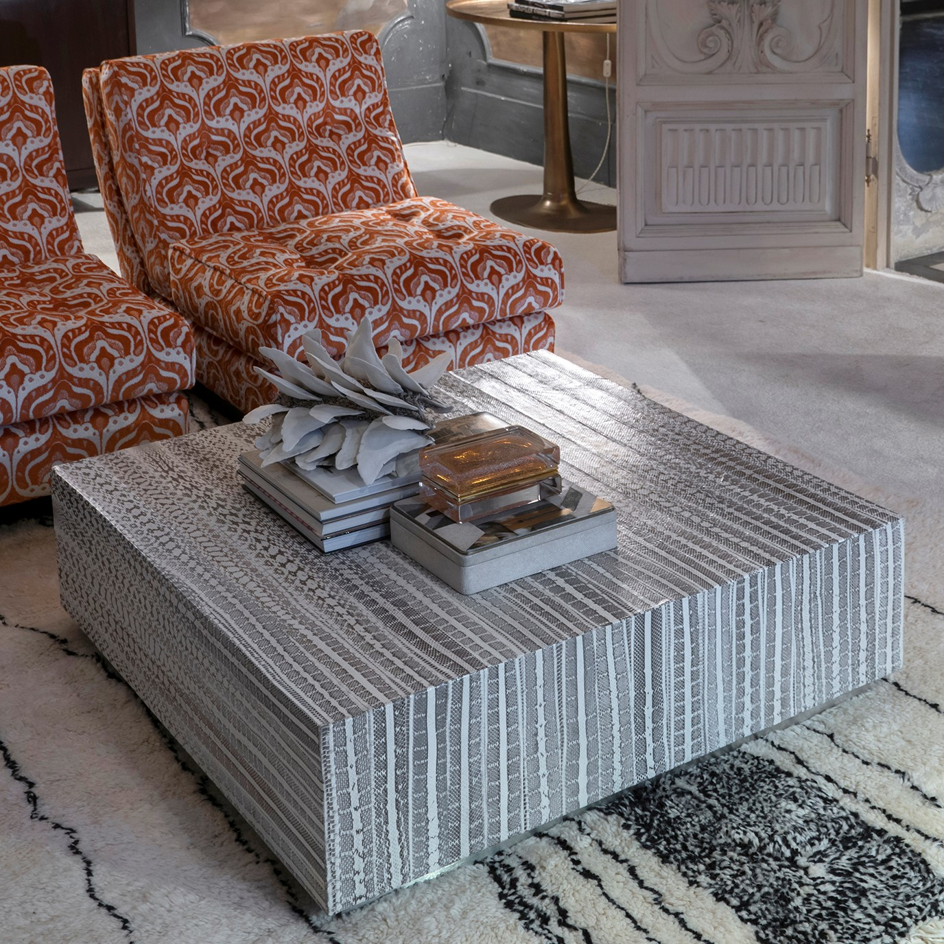 Flair Edition Contemporary Snake Skin Coffee Table, Italy 2019