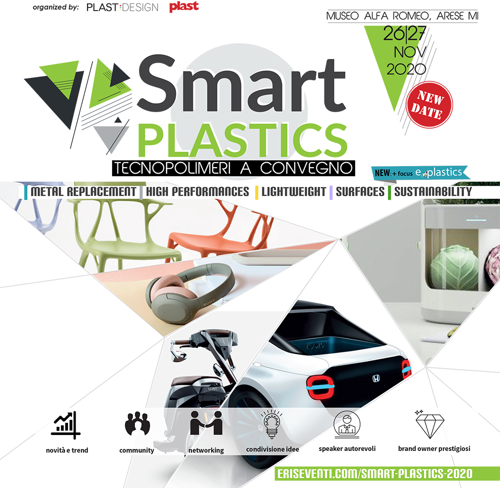 SMART PLASTICS; tecnopolimeri; polimeri; plastica; metal replacement