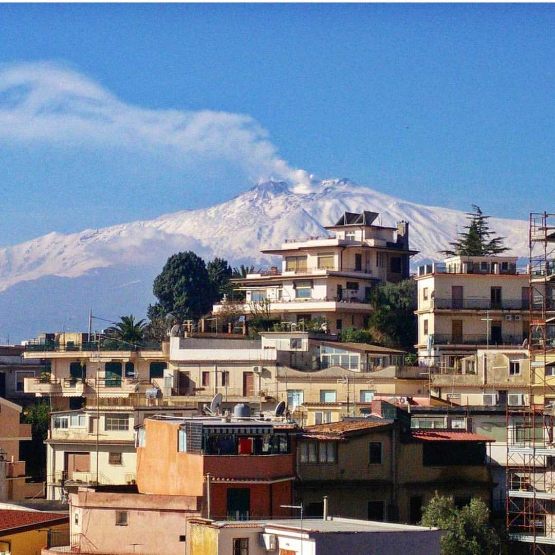 Etna view from Taormina