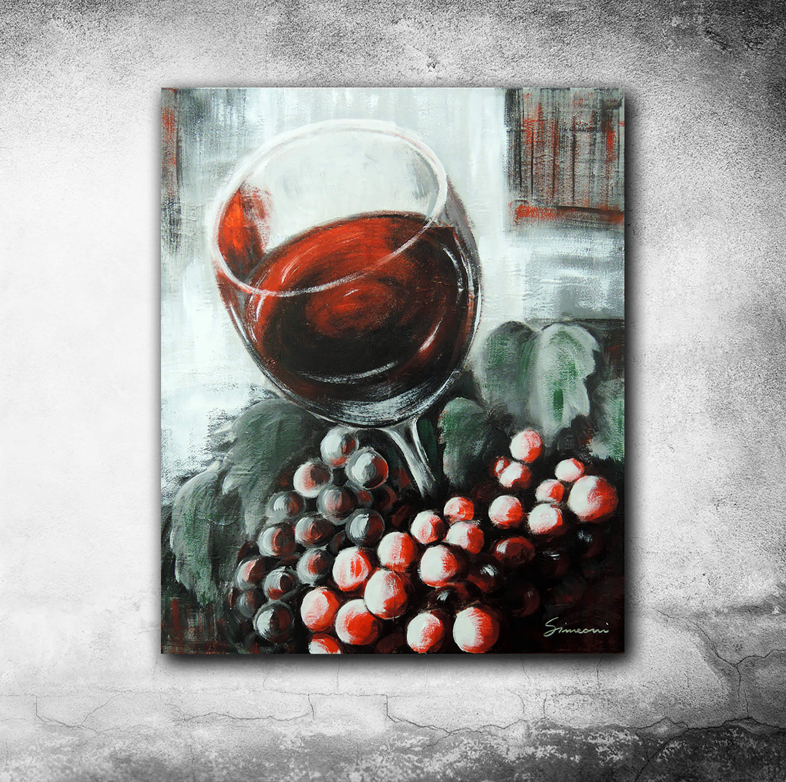 Red wine - acrylicon canvas - cm 60x50
