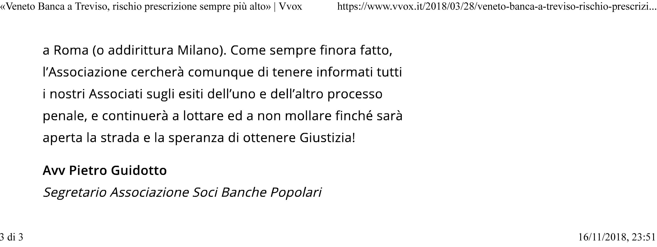 b121e05967 Corriere del Veneto del 21 novembre 2017. «