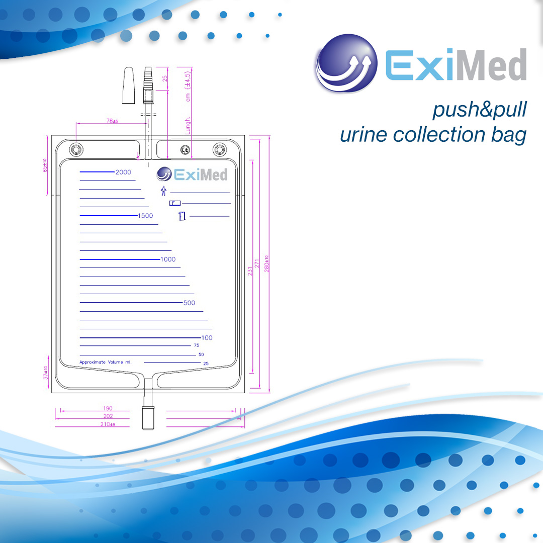 Urine Collection Bag with Push&Pull Outlet