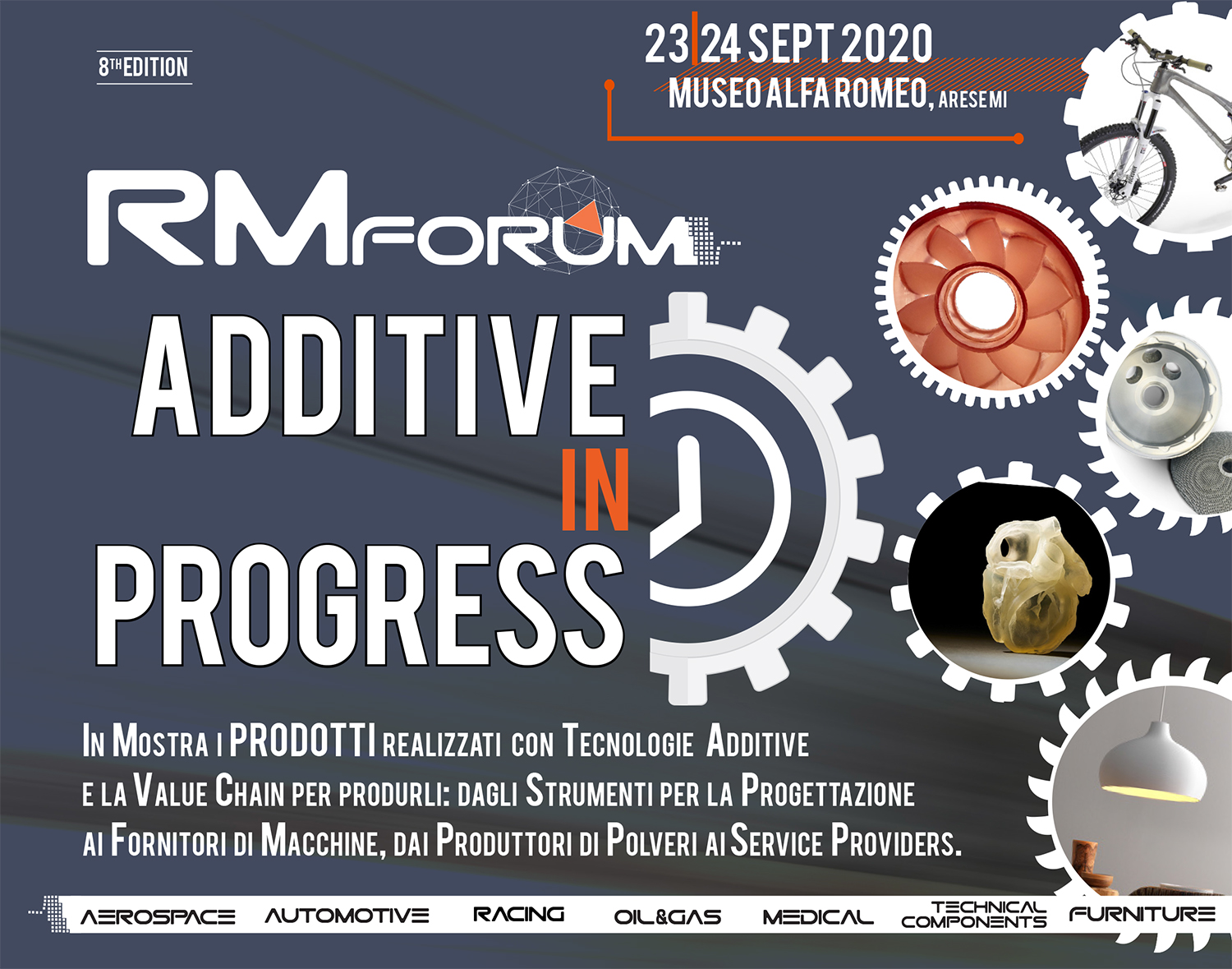 RM FORUM ; stampa3d; 3d printing; additive manufacturing