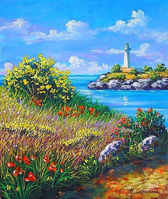 Quadri quadri paesaggi quadri a olio quadri d 39 autore for Quadri dipinti a mano paesaggi