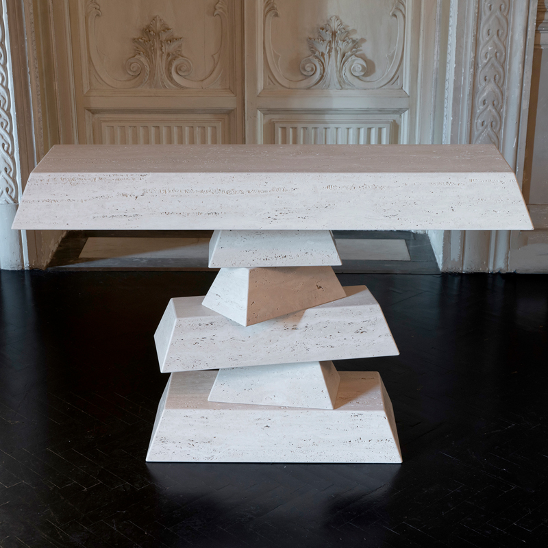Flair Edition Travertine Console