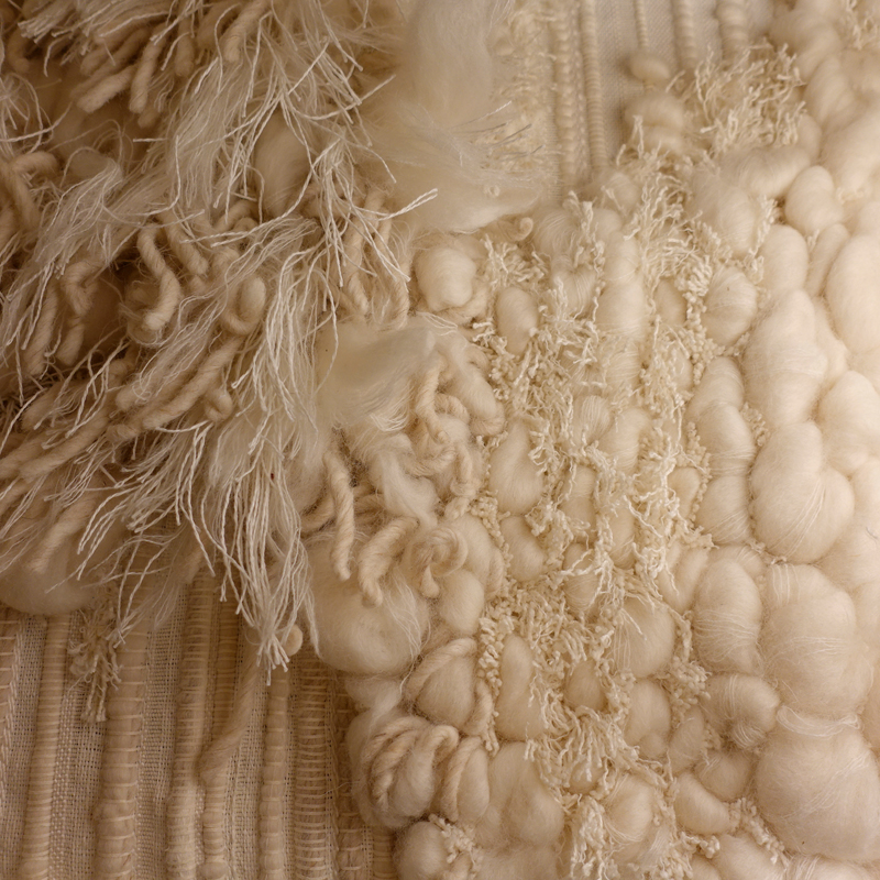 """ESQUISSE "" Wool/Linen Textile Wall Artwork by Perrine Rousseau"