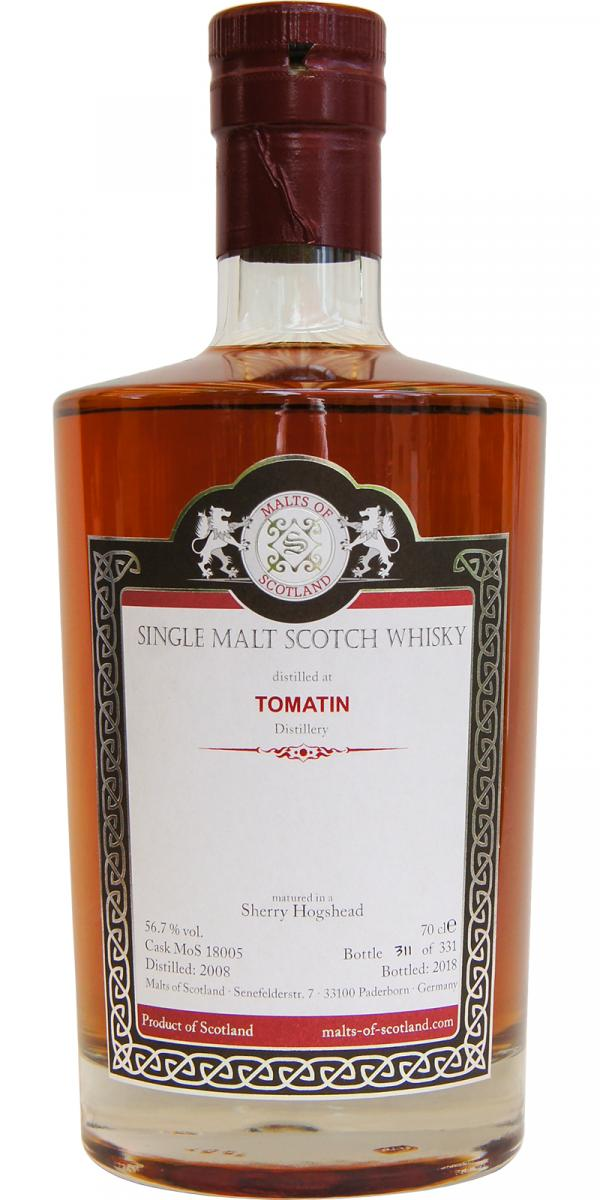Malts of Scotland Tomatin