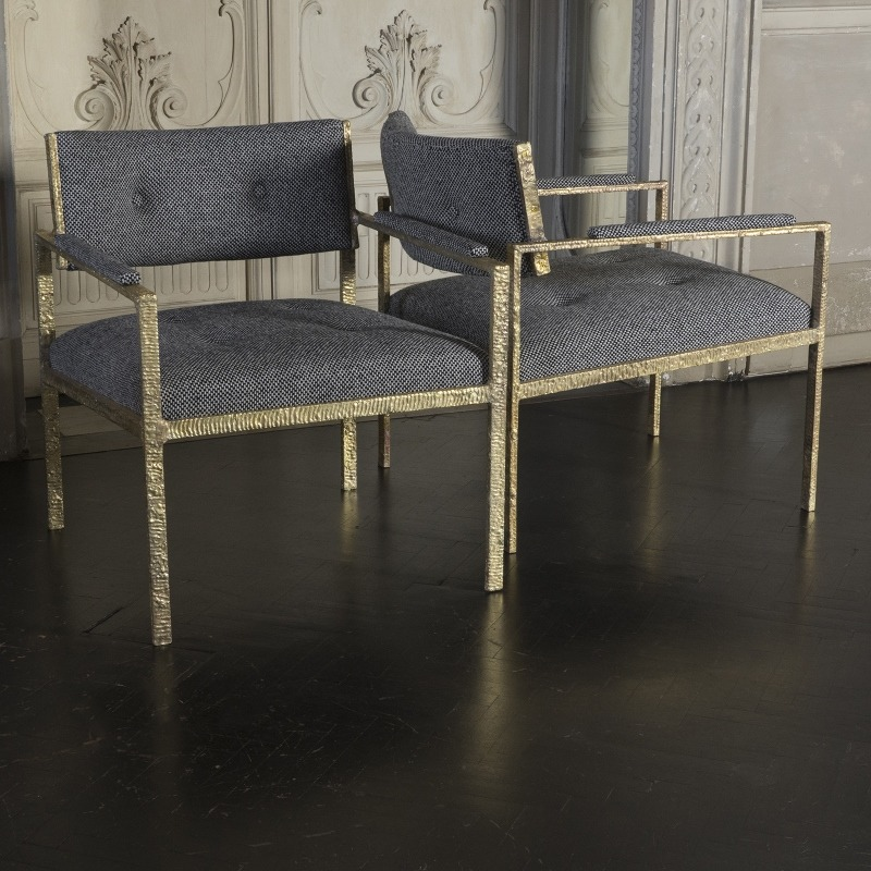 Natural Brass Lounge Chair