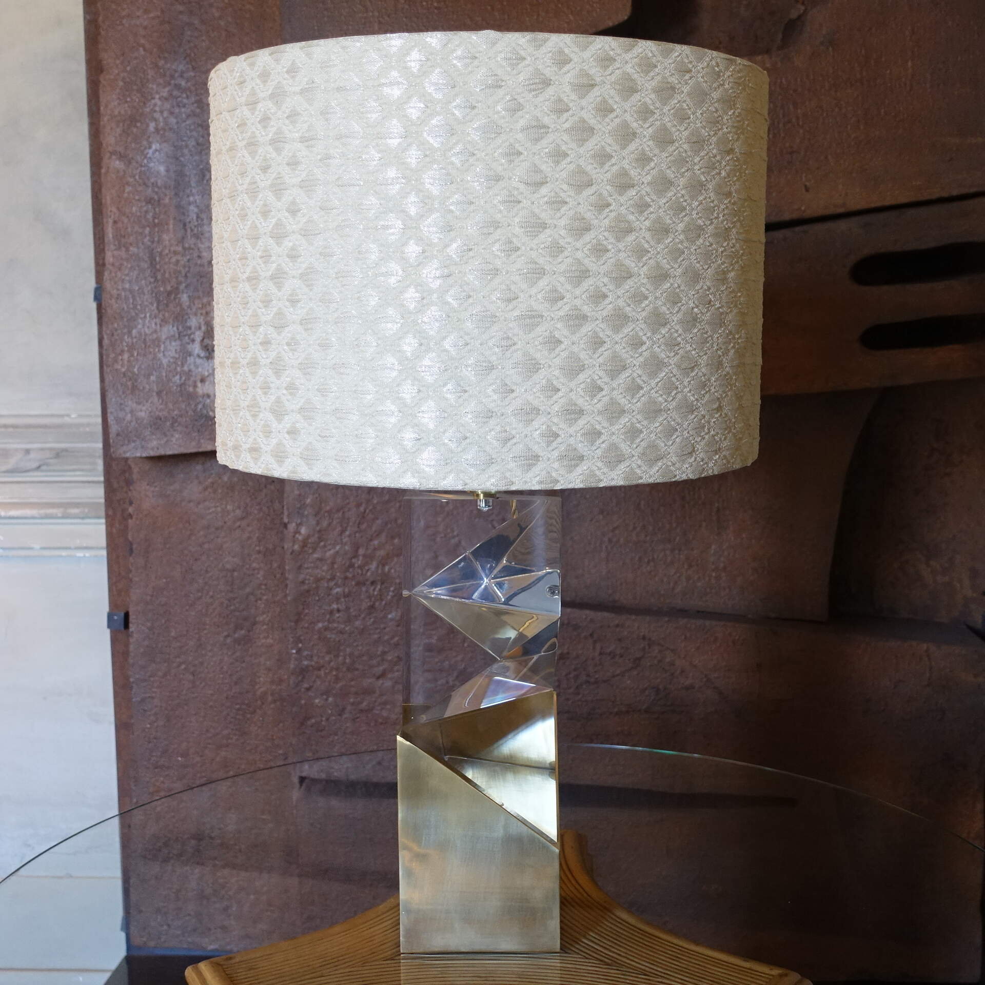 "Flair Edition ""Romboid Brass"" Table Lamp"