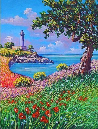 quadri, quadri paesaggi, quadri a olio, quadri, d\'autore, barche ...