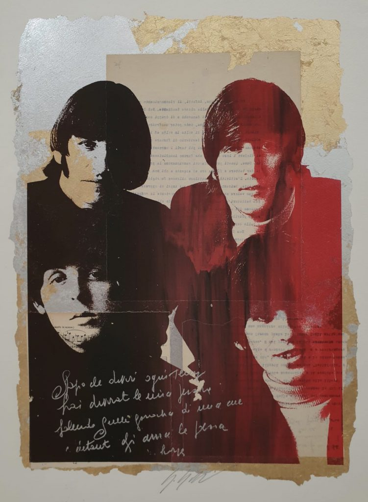 GRITTINI GIULIANO - THE BEATLES - Tecnica Mista su carta 70 x 50