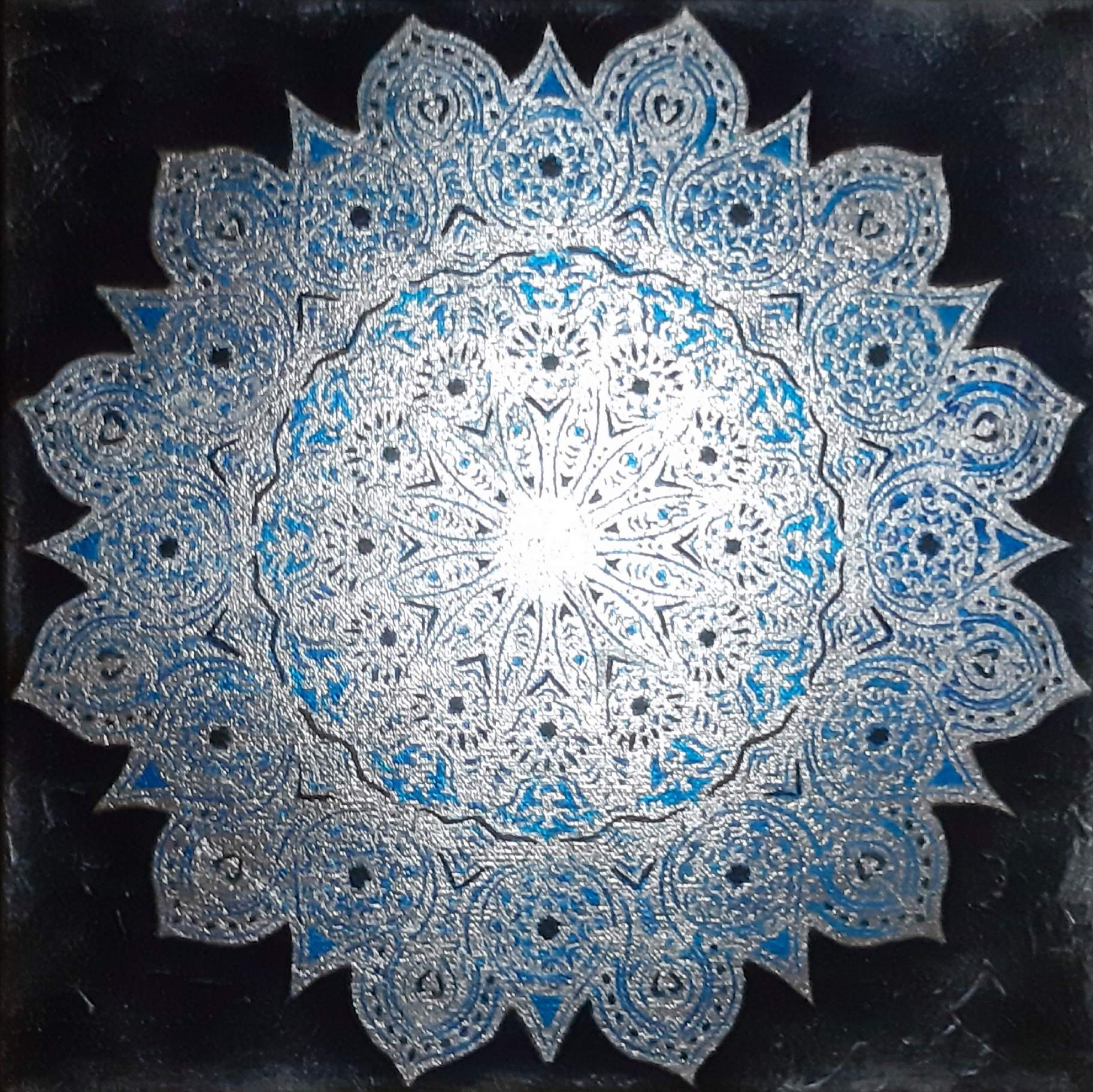 Mandala - mixed media on canvas- cm 30x30