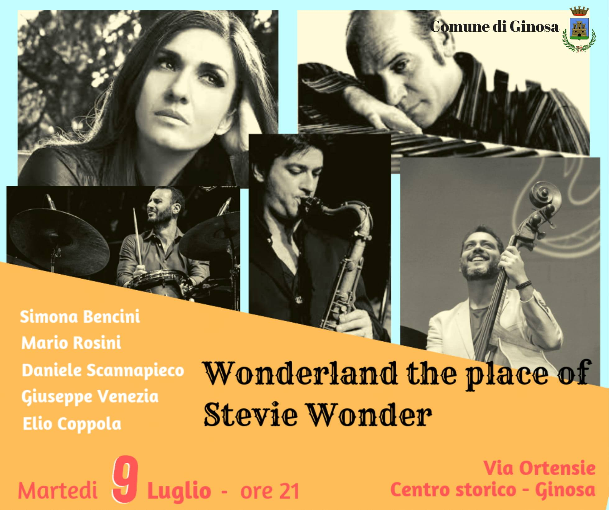 Wonderland the Place of Stevie Wonder: tributo a Stevie Wonder a Ginosa