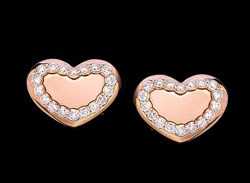 In Pink Gold 18Kt and White Diamonds