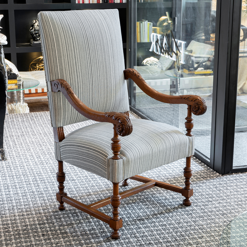 Late 19th Century French Walnut Armchair