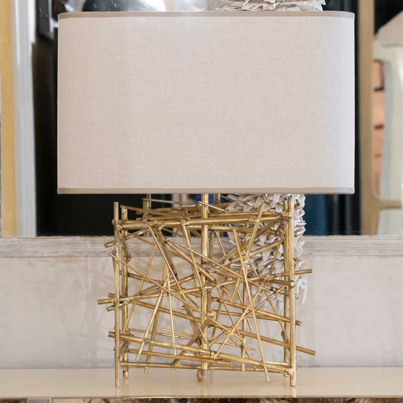 "Flair Edition ""Nest"" Natural Brass Table Lamp, Italy 2019"