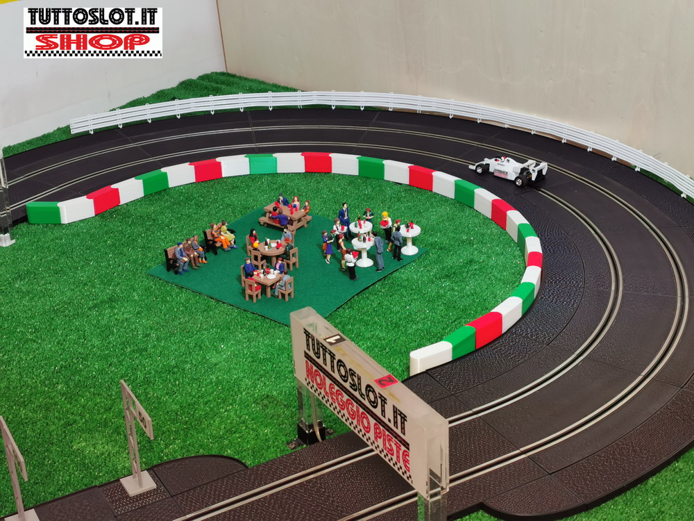 Barriera componibile per pista 10pz - Modular barrier for track 10pcs
