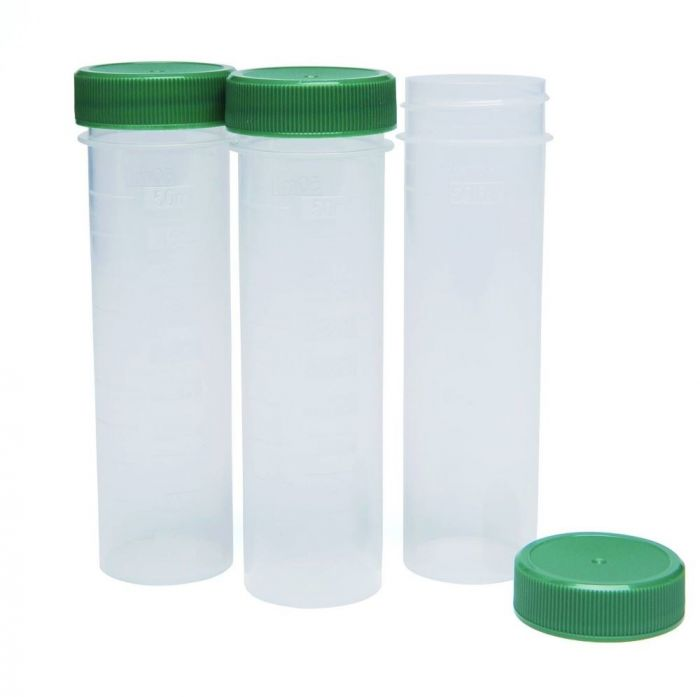 DIGTUB50ML Digestion tubes, polypropylene, screw cap, flat base, 50 ml, 500/pk