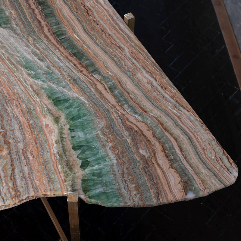 Contemporary Organic Shape Onyx Coffee Table