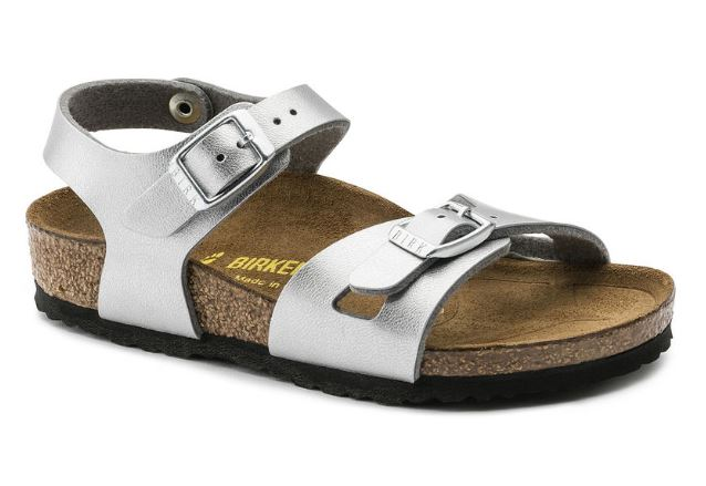 Birkenstock Rio electric metallic silver