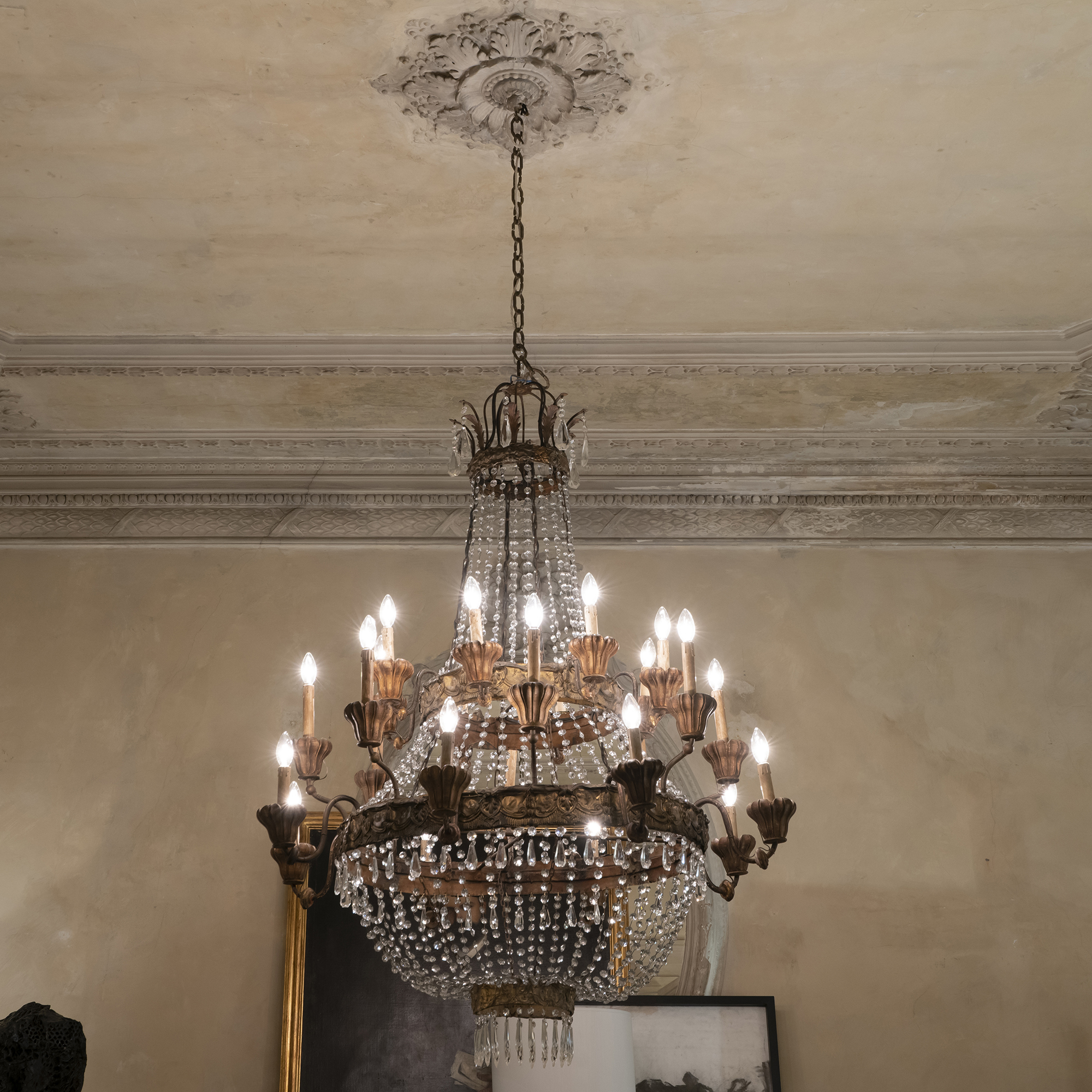 Late 19th Century Neoclassical Italian Chandelier
