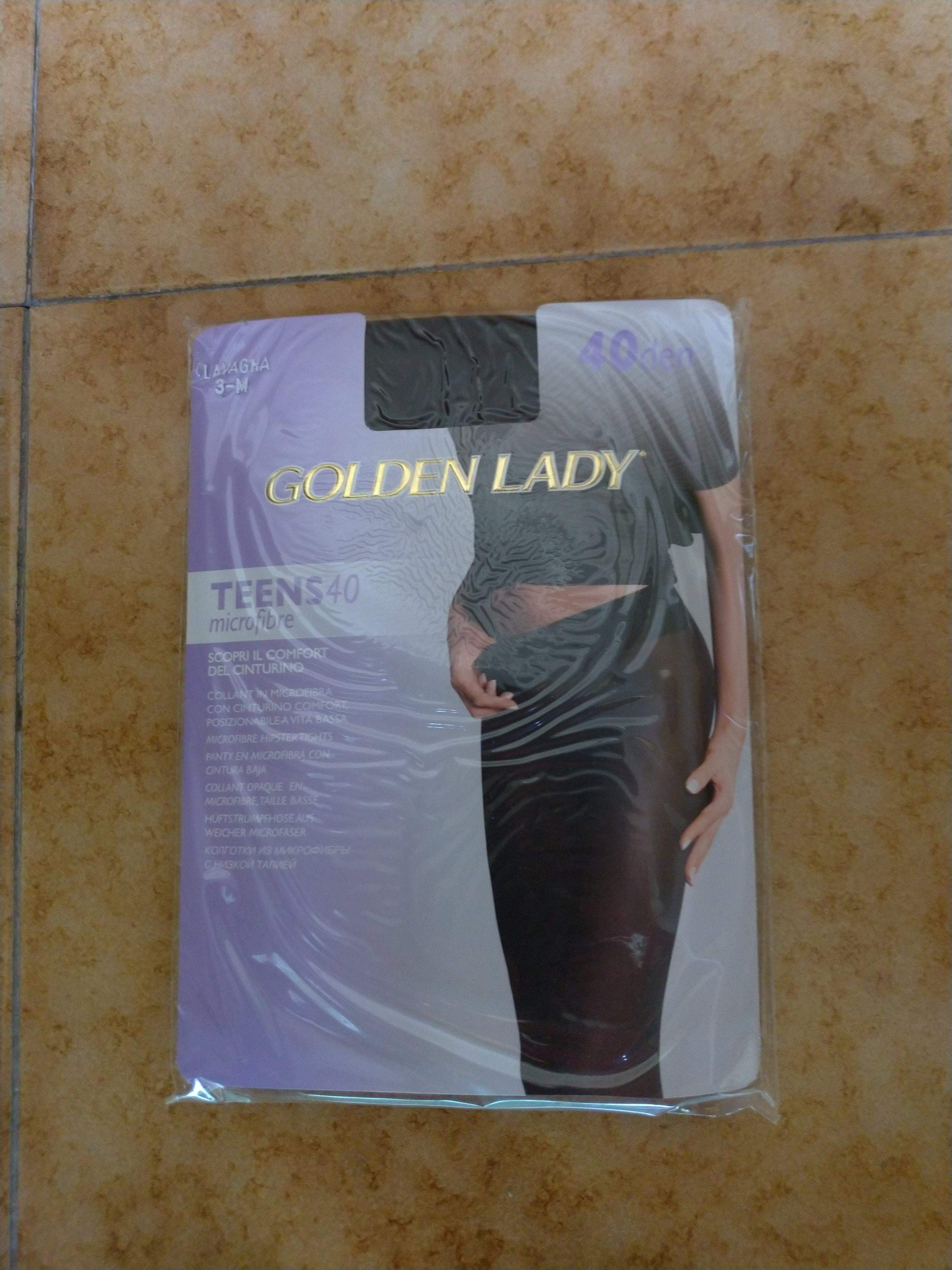 Collant GOLDEN LADY TEENS 40 denari colore LAVAGNA