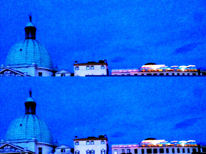 Venetian sunset with dome corrupted pic, 2017